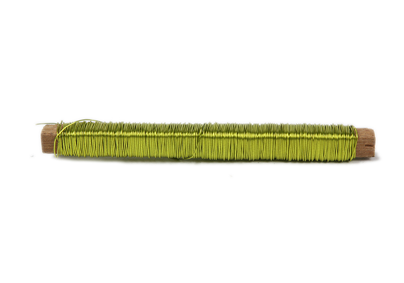 Florist Wire on Wooden Spool-010