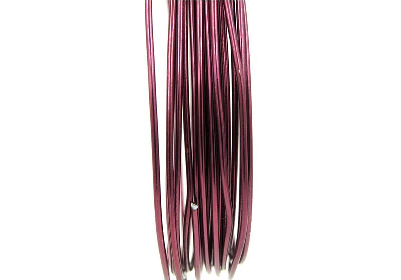 Aluminum Round Wire-002-Aubergine