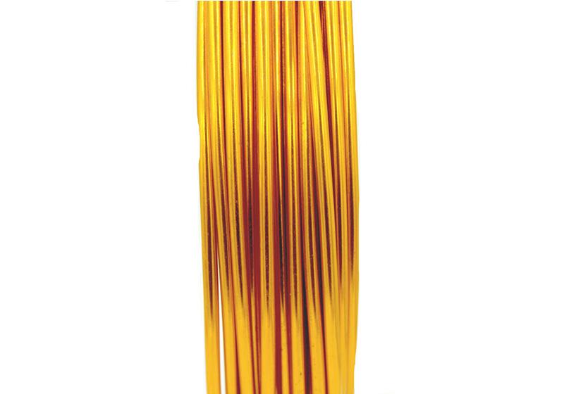 Aluminum Round Wire-009-Dark Orange