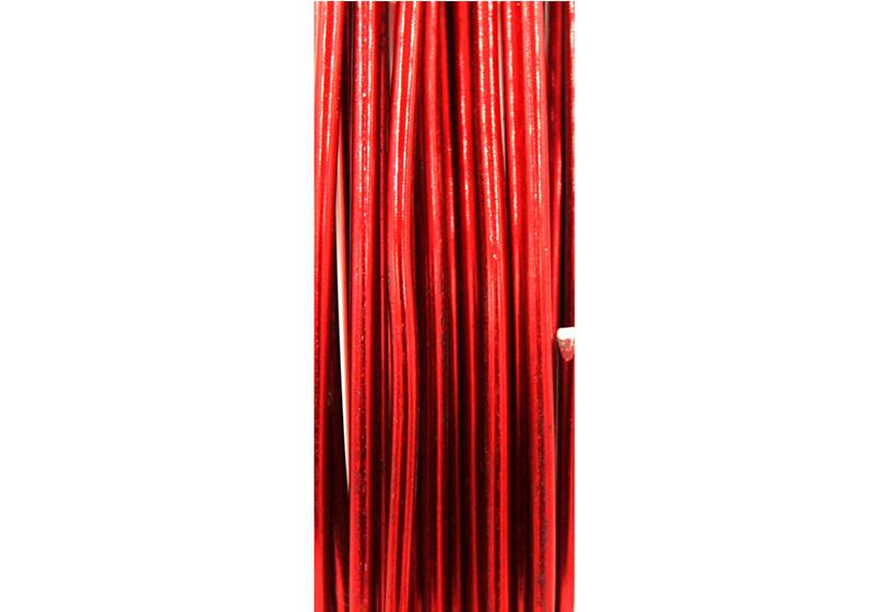 Aluminum Round Wire-010-Dark-Red