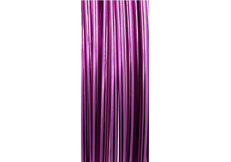 Aluminum Round Wire-011-Fuchsia