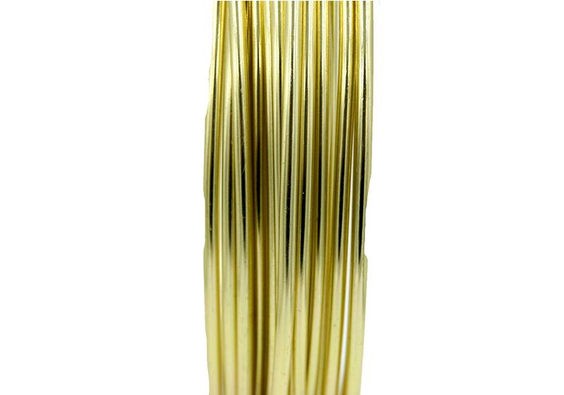 Aluminum Round Wire-012-Gold